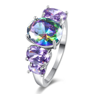 The Queen Rainbow Crystal Ring #7