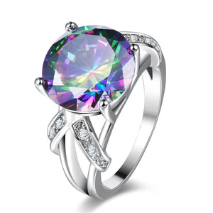 The Queen Rainbow Crystal Ring #8