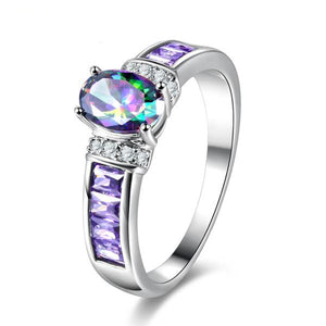 The Queen Rainbow Crystal Ring #6