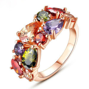 The Queen Colorful Stones Ring #1