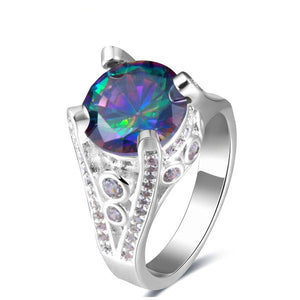 The Queen Rainbow Crystal Ring #12