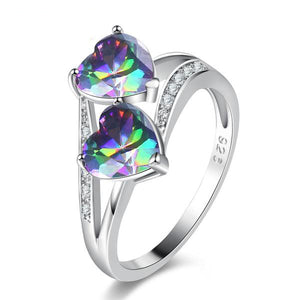 The Queen Rainbow Crystal Ring #10