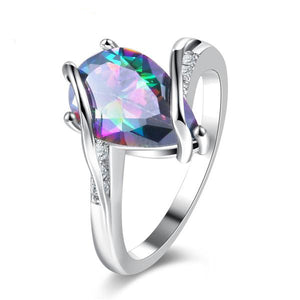 The Queen Rainbow Crystal Ring #9