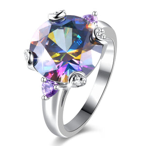 The Queen Rainbow Crystal Ring #1