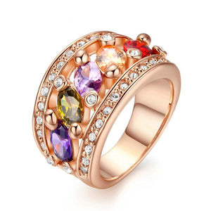 The Queen Colorful Stones Ring #3