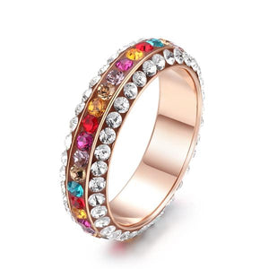 The Queen Colorful Stones Ring #8