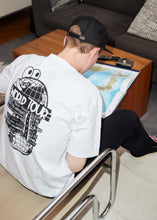 "Load image into Gallery viewer, ""World Tour"" HW Cotton Tee -White"