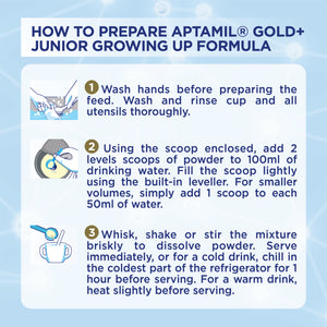 Aptamil® Gold+ Stage 4 Growing Up Milk Formula 900g x 10 + Free Step 2 Ball Buddies Double Drop (worth $199)