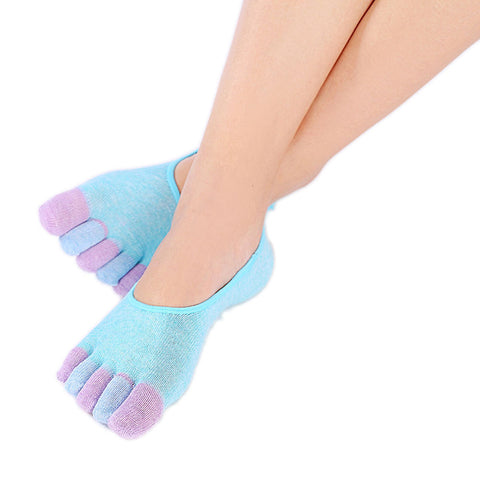 5-Toe Colorful Non Slip Soft Ventilation Massage Toe Socks sport socks