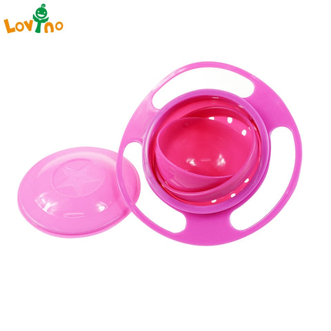 Baby Feeding Gyro Bowl Universal 360 Rotate / Spill-Proof Bowl