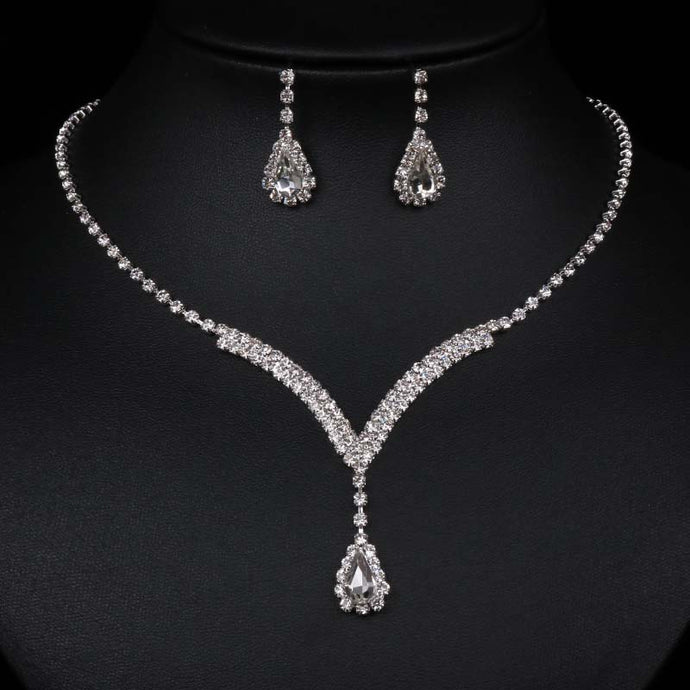 Luxurious Necklace Earring Set - Luxury for women