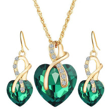Load image into Gallery viewer, Luxurious Love heart Pendant Necklace Set For Women - Luxury for women