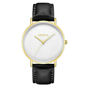 Luxurious Ultra Thin Leather Watch - Luxury for women