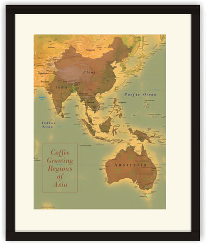 Map of Asia Coffee Regions