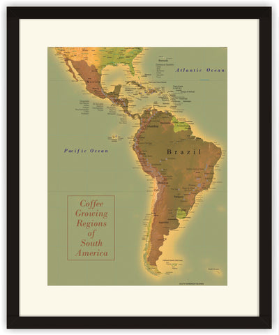 Map of South America Coffee Regions