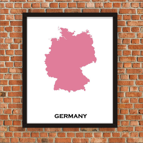 Minimalist Map Print of Germany 16 x 20