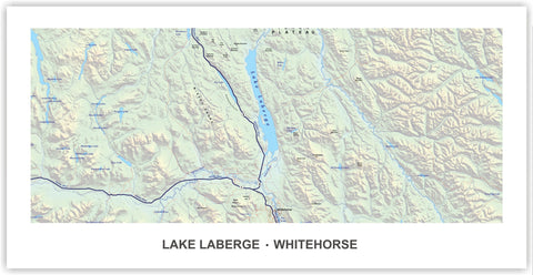LAKE LABERGE AND WHITEHORSE MAP PRINT