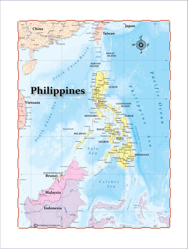 Map of philippines 8 x 10 print progeo maps guides please upgrade to full version of magic zoom plus map of philippines 8 x 10 print publicscrutiny Images