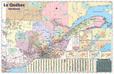 Province of Quebec Wall Map