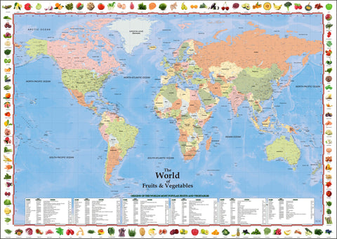ProGeo Maps - The World of Fruits and Vegetables