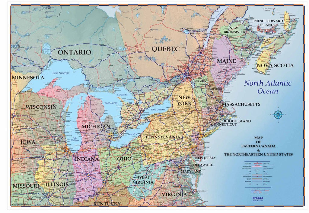 Map Of Northeast Canada Northeastern _USA_ and_ Southeastern_ Canada_ 48