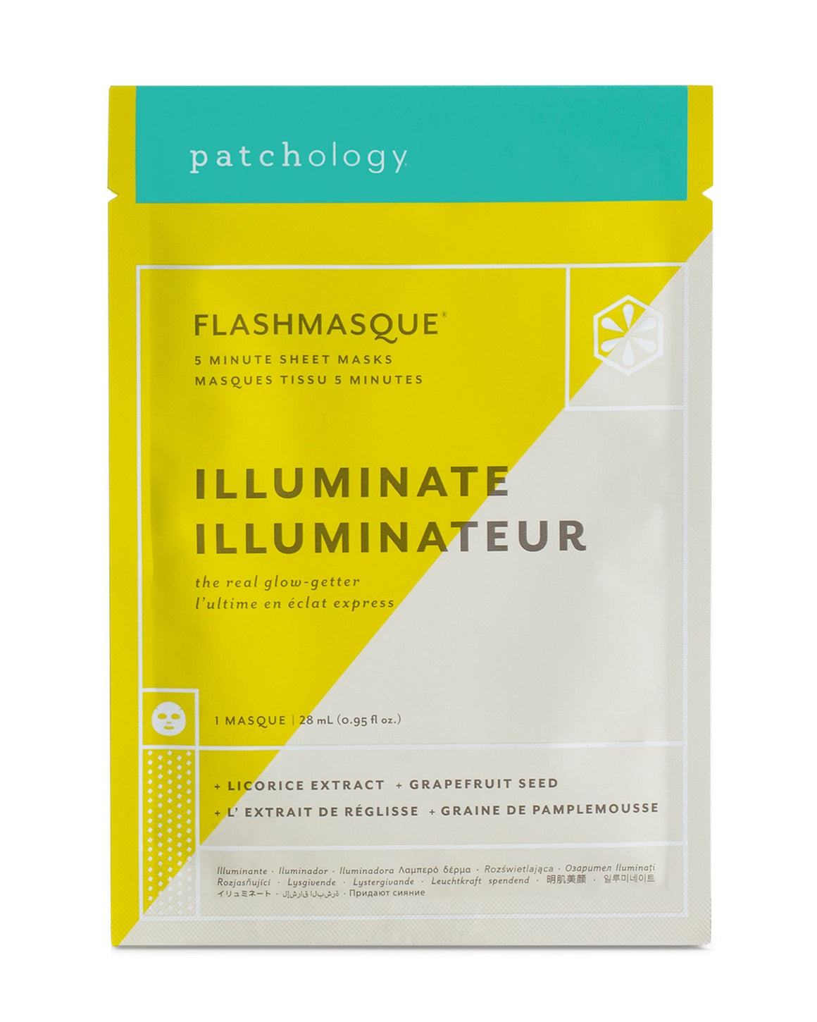 Patchology - FlashMasque® Illuminate fátyolmaszk 1 db