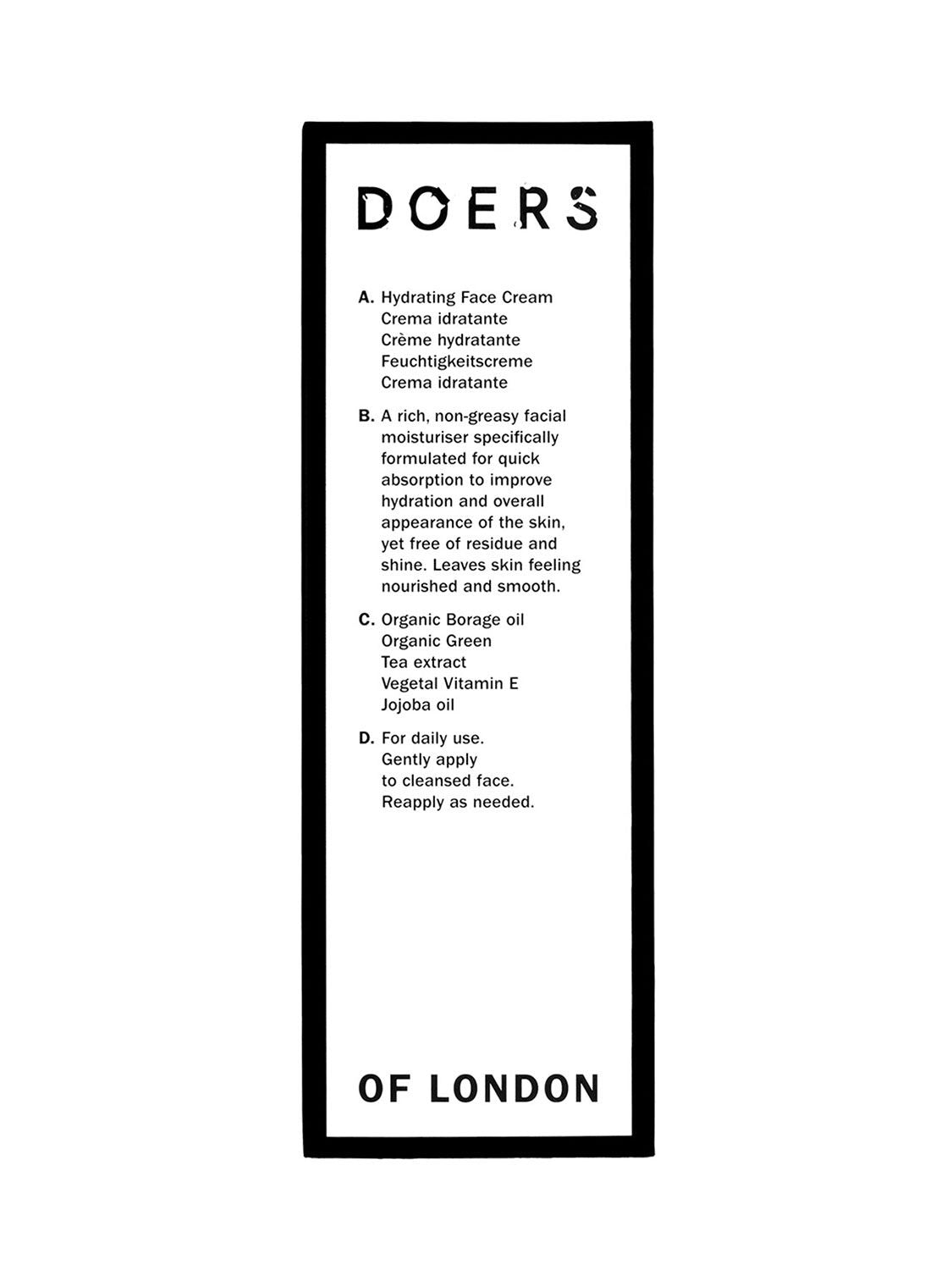 Doers of London - Hidratáló arckrém 100ml