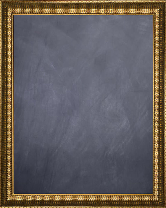 Framed Chalkboard - Gold Finish Rib Frame