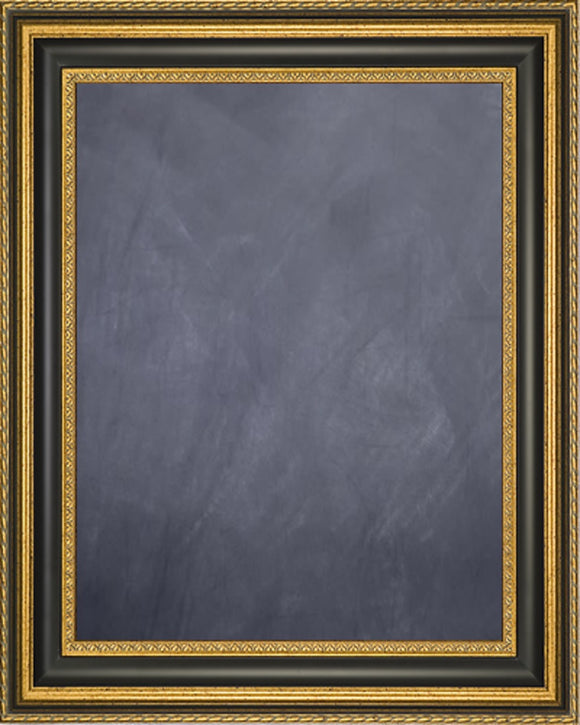 Framed Chalkboard - Gold Finish Frame with Black Panel