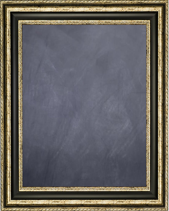 Framed Chalkboard - Silver Finish Frame with Black Panel