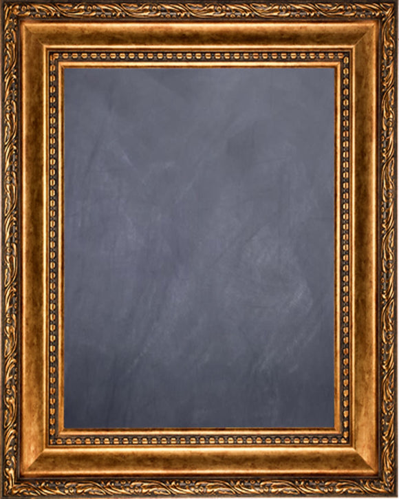 Framed Chalkboard - Smokey Gold Finish Scoop Frame
