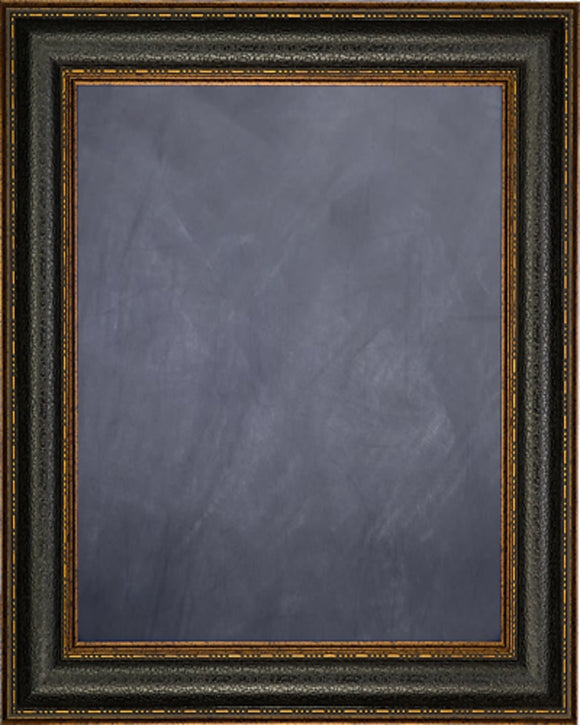 Framed Chalkboard - Black Leather Look Design Frame
