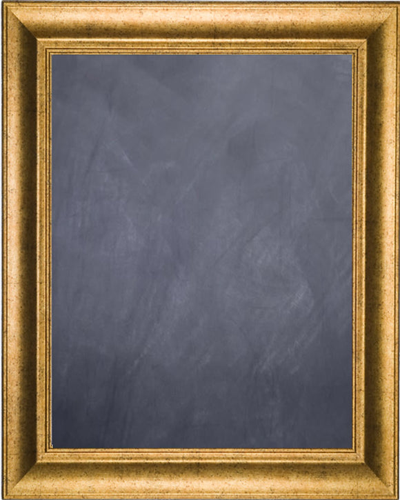 Framed Chalkboard - Antique Gold Finish Frame