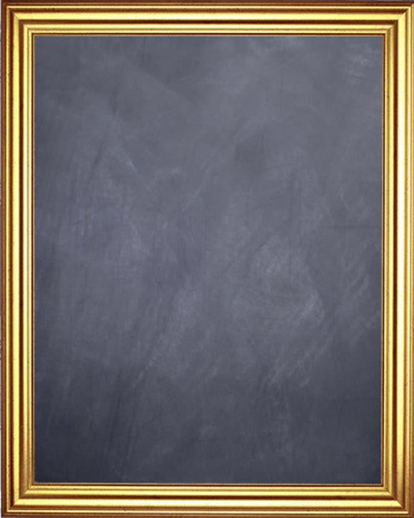 Framed Chalkboard - Gold Finish Frame with Black Splatter