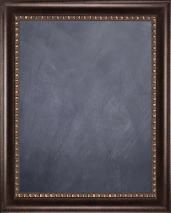 Framed Chalkboard - Dark Bronze Finish Scoop Frame
