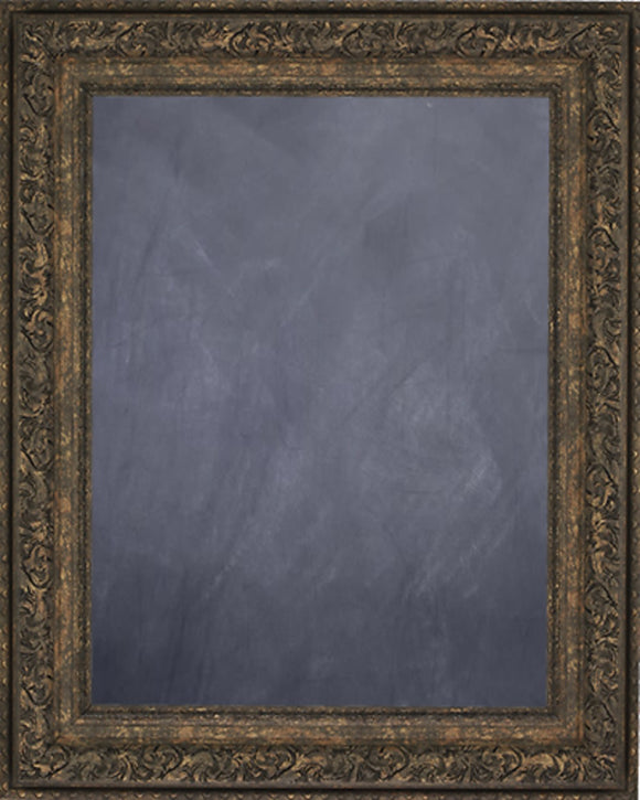 Framed Chalkboard - Ornate Brown-Gold Finish Frame