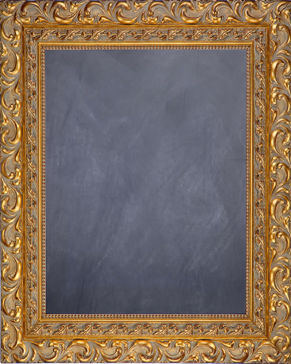 Framed Chalkboard - Ornate Gold Finish Frame