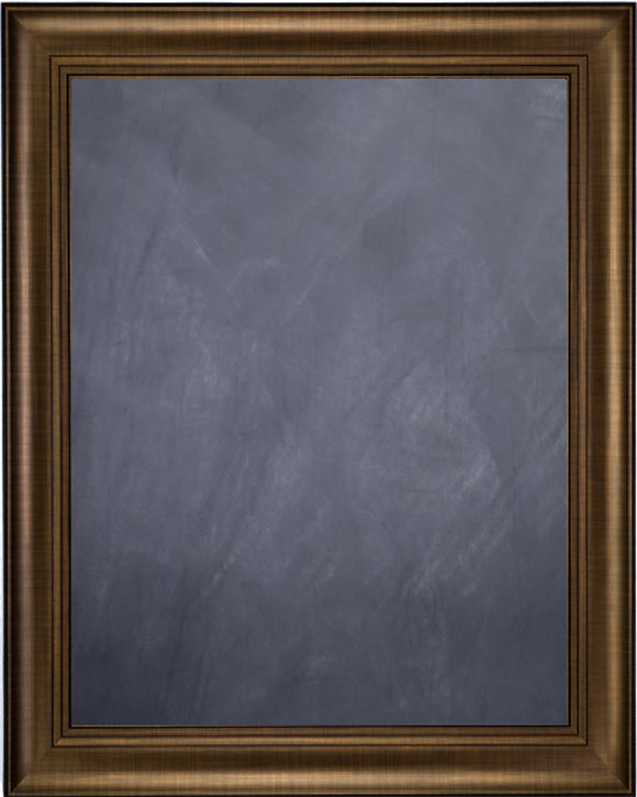 Framed Chalkboard - Bronze Finish Frame with Triple Step Lip