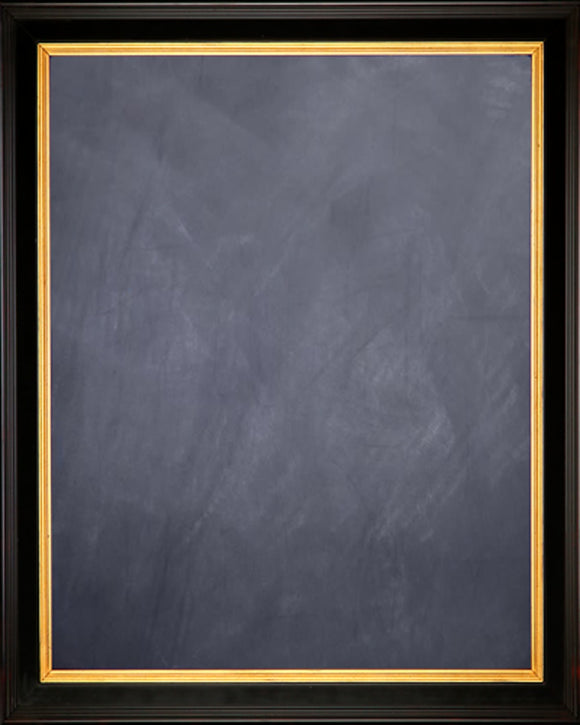 Framed Chalkboard with Black with Gold Finish Frame