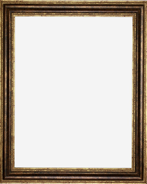 Designer Bronze Finish with Rounded Panel Picture Frame, 2 1/2