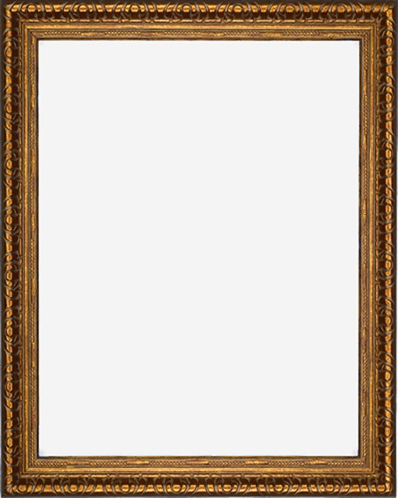 Designer Copper Finish Picture Frame, 2 3/8