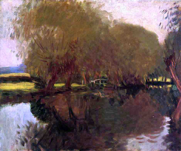 John Singer Sargent Backwater at Calcot Near Reading - Canvas Art Print
