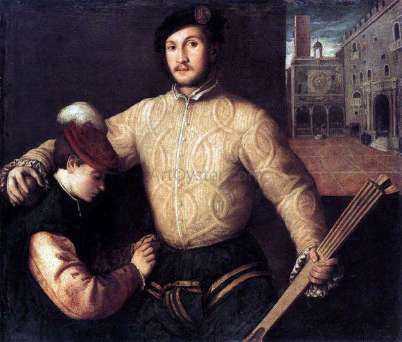 Francesco Beccaruzzi A Ballplayer and His Page - Canvas Art Print