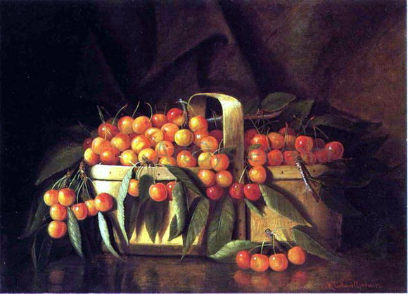Richard La Barre Goodwin A Basket of Cherries - Canvas Art Print