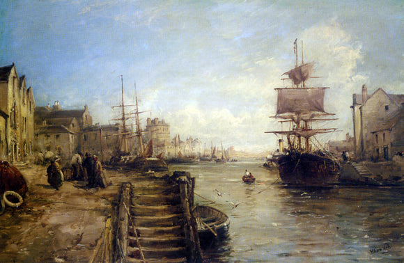 William Edward Webb A Bit of Poole Harbour - Canvas Art Print
