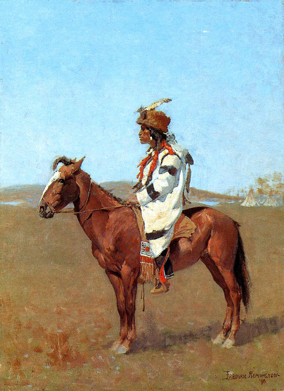 Frederic Remington Blackfoot Chief - Canvas Art Print