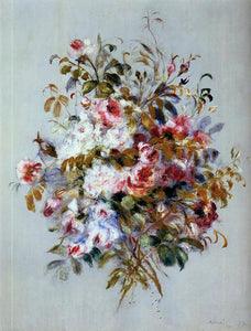 Pierre Auguste Renoir Bouquet of Roses - Canvas Art Print