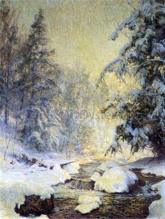 Walter Launt Palmer A Brook in Winter (also known as Kinderbrook Creek) - Canvas Art Print