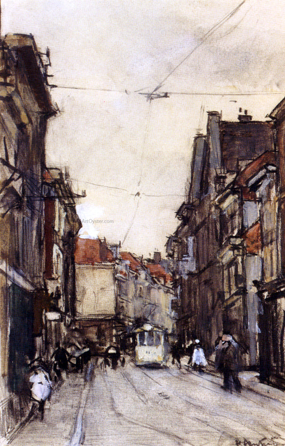 Floris Arntzenius A Busy Street, The Hague - Canvas Art Print