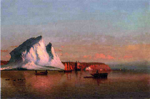 William Bradford A Calm Afternoon, the Coast of Labrador - Canvas Art Print